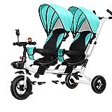 CHEERALL Doppel Kinderwagen Kinder Doppel Dreirad...