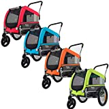 Veelar Pets Medium Hundeanhänger & Buggy 2in1...